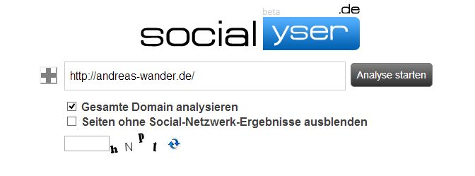 Socialyser Andreas Wander screen 1